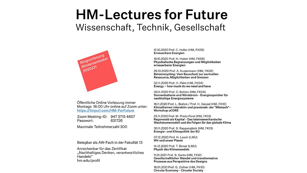 Ringvorlesung HM-Lectures for Future