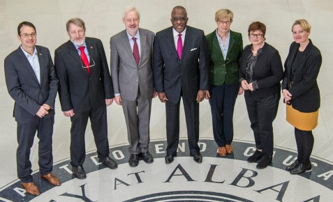 Die deutsche Delegation an der University at Albany