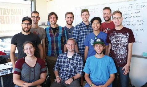 Successful collaboration and happy faces: Team c.lab and team Sandbox (Photo: Dennis Steers / Cal Poly College of Engineering)