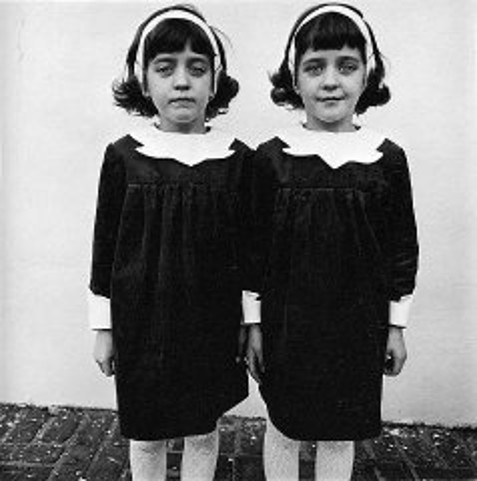 Identical Twins, Roselle, New Jersey, 1967, Photograph by Diane Arbus, this particular version of the photograph comes from artnet.com