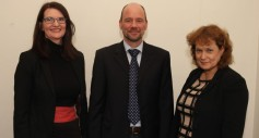 von links: Dr. Denise O´Leary (Assistant Head of School; Director of Research), Prof. Dr. Norbert Klassen, Dr. Deirdre Quinn (Senior Lecturer)